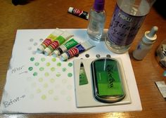 Make your own pigment ink and chalk ink refills for stamp pads.