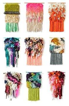 I want every single one of these wall hangings! They are awesome and I'm so into weaving right now. Jujujust
