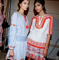 A look at the tunics, in myriad shapes and styles, seen on the runway #ToryBurchSS16