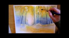 Autumn Forest - watercolor painting process