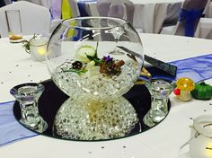 Centre piece decor with some help from Chris of Deluxe Occasions & few little extra finishing touches from myself