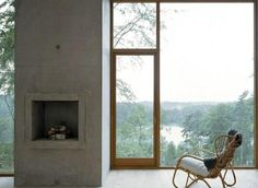 A fireplace in Sweden from Strata Arkitektur.