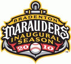 Bradenton Marauders Special Event Logo (2010) - Bradenton Marauders inaugural season logo patch - worn on sleeve during 2010 season