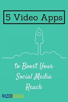 Video content is a great way to increase your follower's engagement on Social media, use apps to make your post unique.