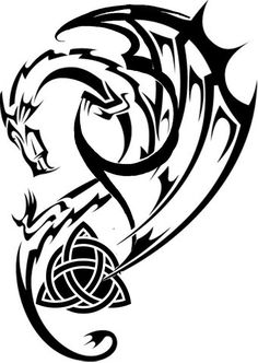 Celtic Dragon Tattoo Outlines - Einladungen