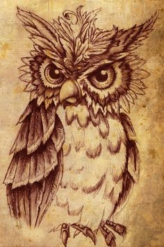 owl crafts | ... things vintage, thrift & craft: Idea Board for Much Wanted Owl Tattoo