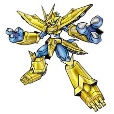 """Magnamon - """"The Radiance of Miracles"""", Holy Knight digimon, Veemon Armor Digivolution through the Digi-Egg of Miracles; member of the Royal Knights"""