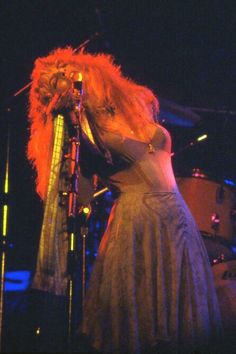 """Stevie photographed during a Fleetwood Mac concert in """