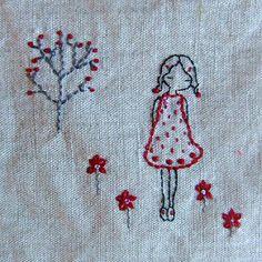 red garden purse detail | by lili_popo