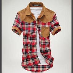 Buy 'Imagine Men – Short-Sleeve Plaid Panel Shirt' with Free International Shipping at YesStyle.com. Browse and shop for thousands of Asian fashion items from Taiwan and more!
