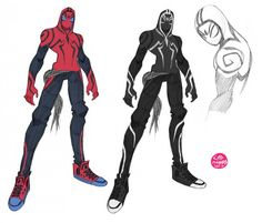 Another really awesome alternate Spider-Man costume, by Corey Lewis