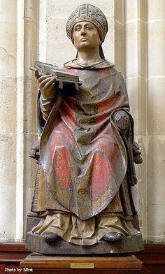 Statue of St. Germain at Saint-Germain l'Auxerrois Church in Paris.