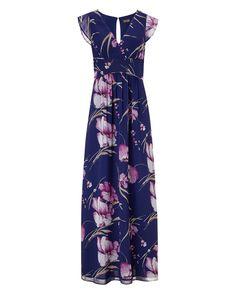 All Sale | Purple Hiromi Print Maxi Dress | Phase Eight