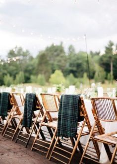 There's nothing better than having a winter wedding in the outdoors. If you're worried about the weather being a little too chilly for your guests, include some warm blankets on your guests' chairs to ensure that they're kept cozy all night long. For more ideas like this, head to the link now! #winterwedding #weddingideas #weddingreception #weddingideas Macau, Outdoor Chairs, Outdoor Furniture Sets, Outdoor Decor, Rattan Chairs, Wooden Chairs, Outdoor Dining, New Hampshire, Fresco