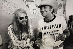 Leon Russell and Willie Nelson 1973