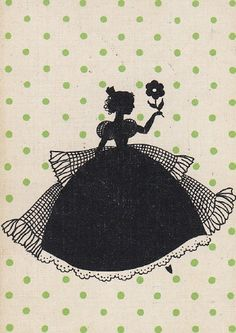 vintage silhouettes | Vintage Silhouette Card | Silhouette