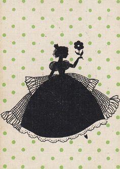 vintage silhouettes | Vintage Silhouette Card | Silhouette
