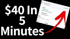 Earn $40 In 5 Minutes?!?! - PROOF SHOWN!!😮🤑| Make Money Online Fast! Make Money Blogging, Make Money From Home, Way To Make Money, Make Money Online, How To Make, Internet Marketing, Social Media Marketing, Surveys For Money, Money Now