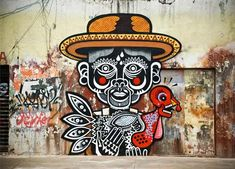 "Mexican graffiti artist Neuzz will create a mural similar to this at Marble Brewery. The mural will be part of his ""Abuelo Goyito"" series, which are stories taken from his grandfather."