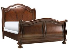 Pembrooke king sleigh bed. cherry finish. King Bedroom Sets, Queen Bedroom, Bedroom Bed, Bedroom Furniture, Master Bedrooms, Bedroom Ideas, King Beds, Queen Beds, Antique Beds