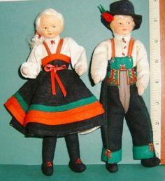 Vintage-Pair-Of-Ronnaug-Petterssen-Dolls-Used-Nice-Condition