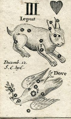 Astronomical card - 1676