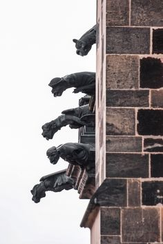 Prague gargoyles by  Dara Pilugina, Prague, Czech Republic