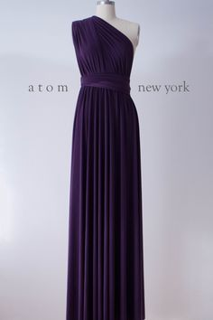 Backordered 3 Weeks** Dark Purple Floor Length Ball Gown Infinity Dress Convertible Formal Multiway Wrap Dress Bridesmaid Evening Dress by AtomAttire on Etsy https://www.etsy.com/listing/215361214/backordered-3-weeks-dark-purple-floor