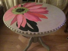 Painted dining table - Painted with Annie Sloan Chalk Paint and latex mixed with Paint Minerals, sealed with clear and dark wax mix. By Tref Lowe Barillo   TrefDesigns  #ASCP