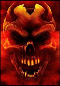 Digital Paintings by Eddie Danger Gothic Wallpaper, Skull Wallpaper, Arte Horror, Horror Art, Funny Horror, Creepy Photography, Demon Drawings, Flame Art, Skull Pictures