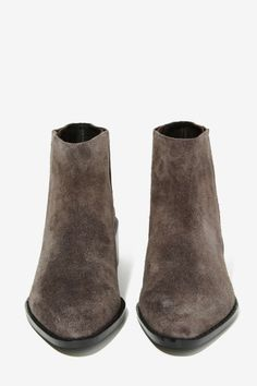Grey City West Suede Ankle Boot - Flats | Ankle