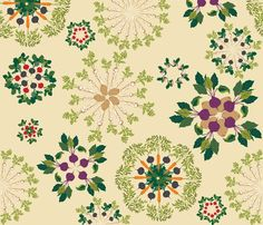 vegetable mandalas fabric...would make such a great tablecloth