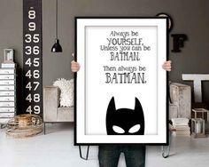 Batman Poster Batman Print Batman Quotes Inspirational Quote Batman Printable - Batman Printables - Ideas of Batman Printables - Batman Kids Rooms, Batman Bedroom, Superhero Room, Batman Room Decor, Posters Batman, Batman Quotes, Batman Art, Gotham Batman, Batman Robin