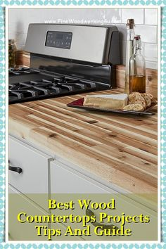 You need to sand off all the existing finish first, and you should apply the oil as soon as possible after sanding, while the grain is still open. Choose either tung oil or boiled linseed oil. Both darken the wood somewhat and impart a rich tone that looks especially attractive on yellow pine. #woodencountertops #woodcountertops Wooden Countertops, Kitchen Countertops, Tung Oil, Linseed Oil, Woodworking Projects, Pine, Yellow, Wood Countertops, Pine Tree