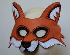 Hen and Rooster Mask PDF Pattern by oxeyedaisey on Etsy Renard Costume, Fox Costume, Costumes, Raccoon Mask, Fox Mask, Wolf Maske, Rooster Mask, Fox Crafts, Bear Mask