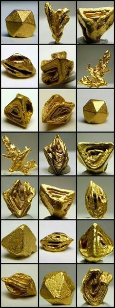Crystalized gold