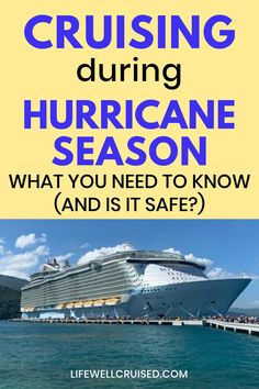 Have you wondered if it's safe to cruise during hurricane season? While cruises sail during this time, and yes, it is safe, there are some things you need to know. Our first cruise was during the hurricane season, and I'll let you know what happened. Cruise Packing Tips, Cruise Travel, Cruise Vacation, Traveling Tips, Disney Cruise, Cruise Ship Reviews, Best Cruise Ships, Cruise First Time, Carnival Cruise Ships