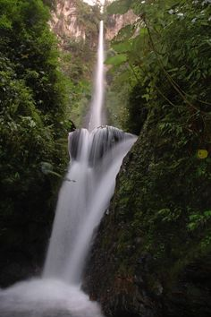 150 metres high Pancaro Rayo Waterfall, Kerinci | Jambi - Indonesia    By: Tim Mowrer