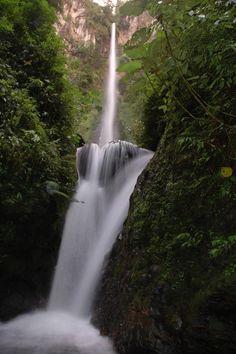 150 metres high Pancaro Rayo Waterfall, Kerinci | Jambi - Indonesia    By: Tim Mowrer