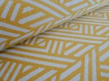 A yellow geometric upholstery and curtain fabric from Linwood available from our online fabric shop or fabric warehouse in Northamptonshire.