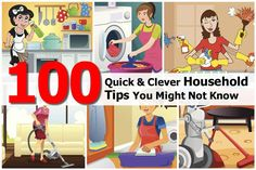 100 Practical Household Cleaning Tips - http://www.simple-ways-to.com/top-100-household-tips.html