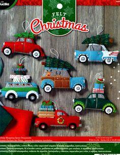 Bucilla Holiday Shopping Spree ~ 6 Pce. Felt Christmas Ornament Kit # 86836 Vintage Cars DIY by FTHInternational on Etsy https://www.etsy.com/listing/547732512/bucilla-holiday-shopping-spree-6-pce
