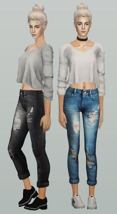 Always Sims Tumblr | e-neillan: ◉ The Sims 2 / AF Tracy Mid Top /...