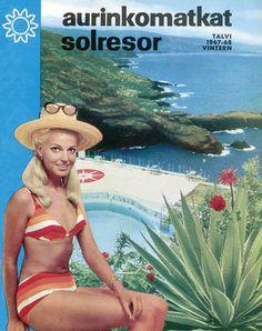 #Aurinkomatkat lomaopas talvi 1967-68 #retro