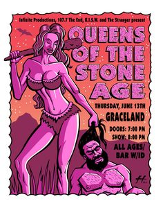 Queens of the Stone Age By Justin Hampton 2002 At Graceland
