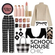 """School house chic"" by shonarowan on Polyvore featuring Rosetta Getty, Kate Spade, Kenneth Jay Lane, Illamasqua, Casetify and L'Oréal Paris"