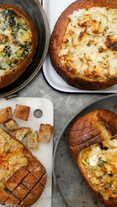 When you dip I dip we dip into 4 bread bowl dips featuring crab brie spinach & artichoke and baba ganoush. Appetizers For Party, Appetizer Recipes, Party Dips, Snacks Recipes, Easter Recipes, Bread Recipes, Bread Bowl Dip, Good Food, Yummy Food