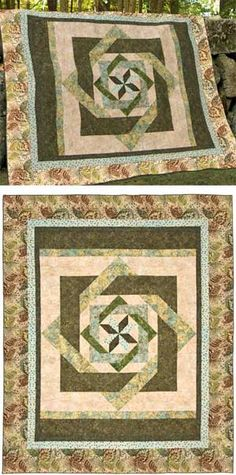 LABYRINTH IN GREEN QUILT KIT