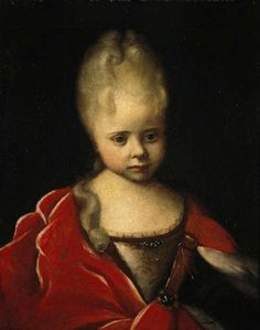 Peter the Great's daughter Elizaveta Petrovna (the future Empress Elizabeth) as a child by Russian Painter  Ivan Nikitich Nikitin .