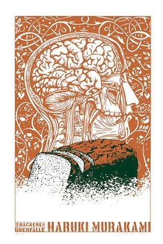 The Bakery Attack (short story) by Haruki Murakami (Illustrated by Kat Menschik) Momento Mori, Museum, Haruki Murakami, Silk Screen Printing, Love Reading, Short Stories, Graphic Illustration, Tapestry, Bakery